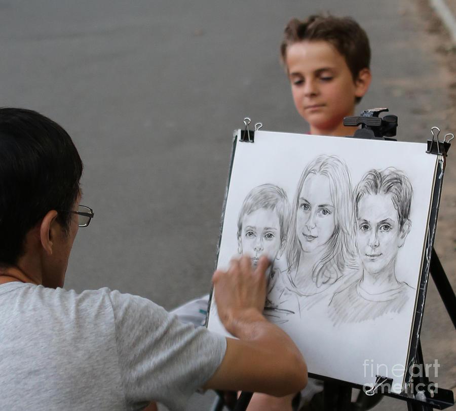 The Artist At Bethesda Fountain Photograph