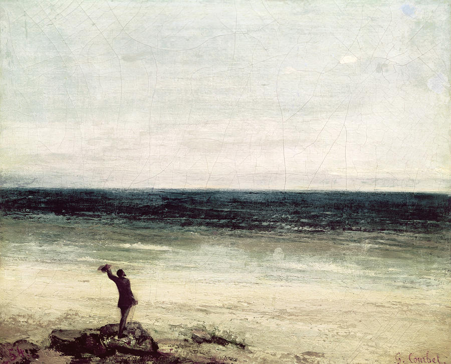 The Artist On The Seashore At Palavas Painting
