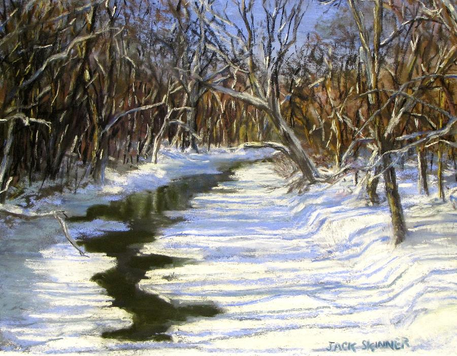 The Assabet River In Winter Painting