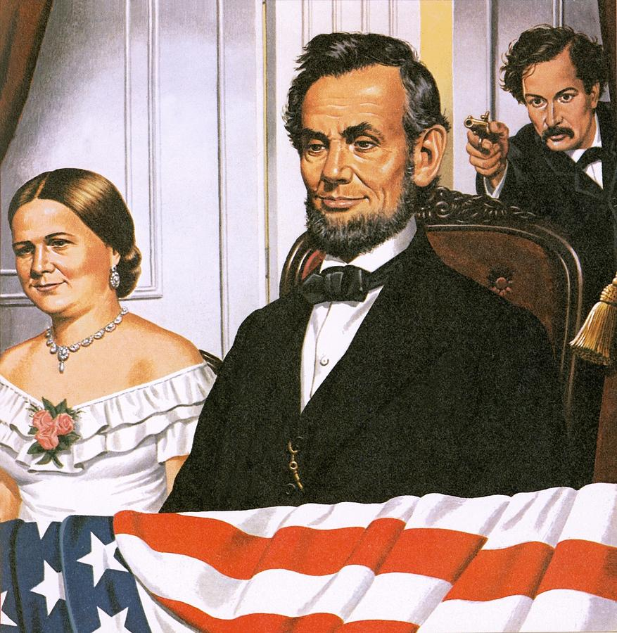 The Assassination Of Abraham Lincoln Painting  - The Assassination Of Abraham Lincoln Fine Art Print