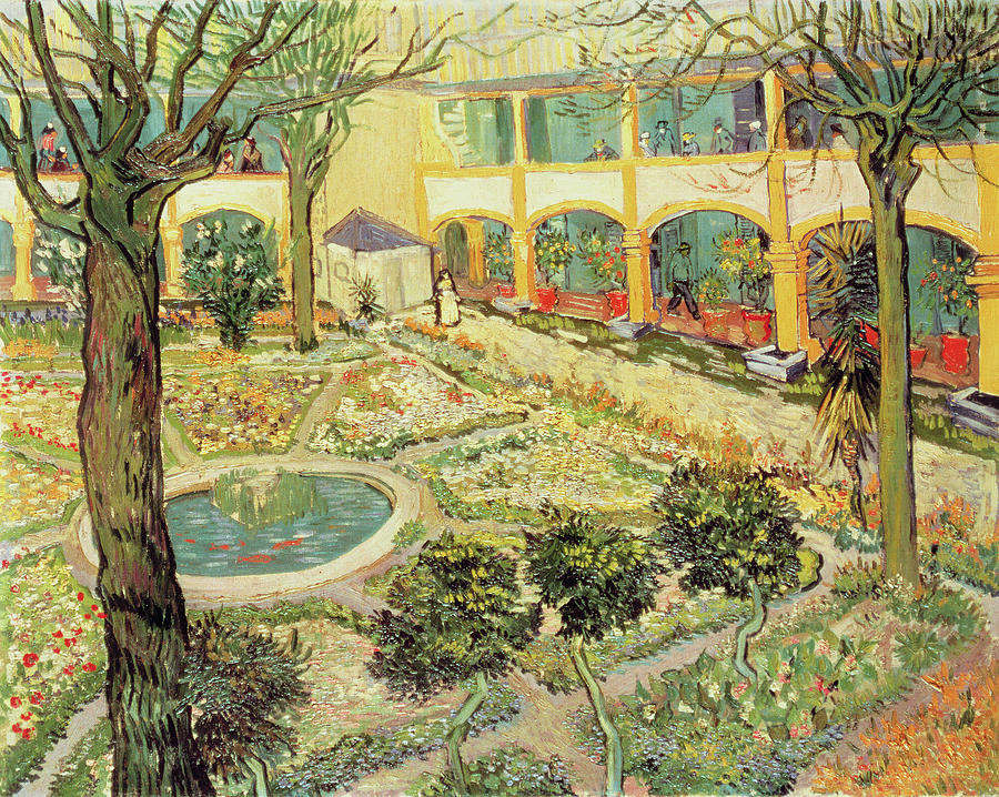 The Asylum Garden At Arles Painting  - The Asylum Garden At Arles Fine Art Print