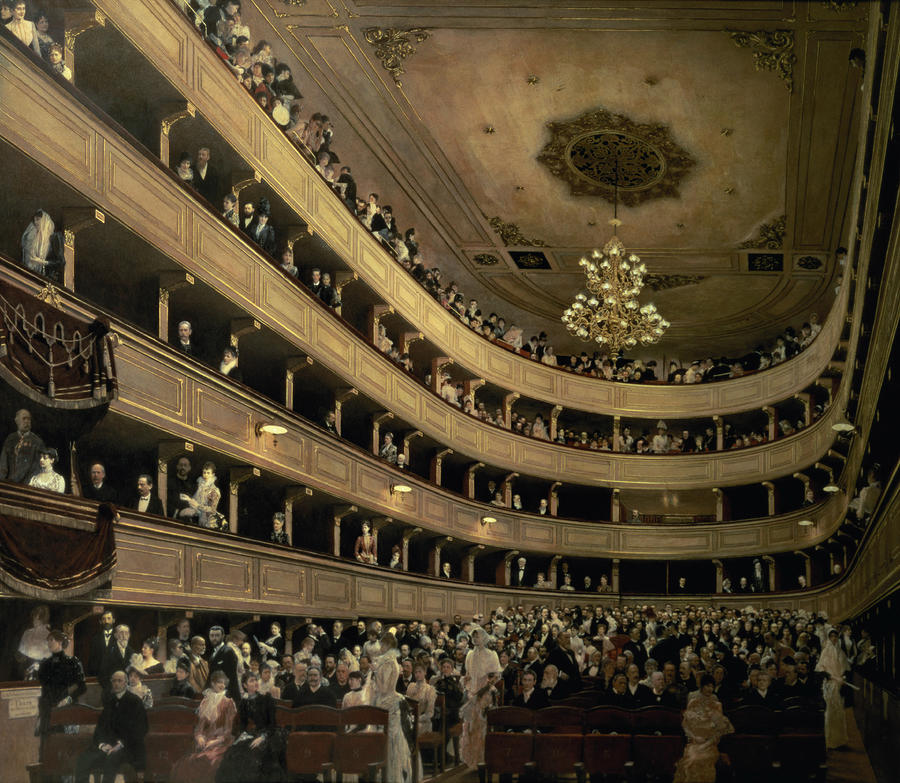 The Auditorium Of The Old Castle Theatre Painting  - The Auditorium Of The Old Castle Theatre Fine Art Print
