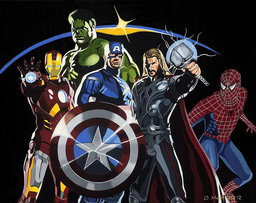 The Avengers Painting