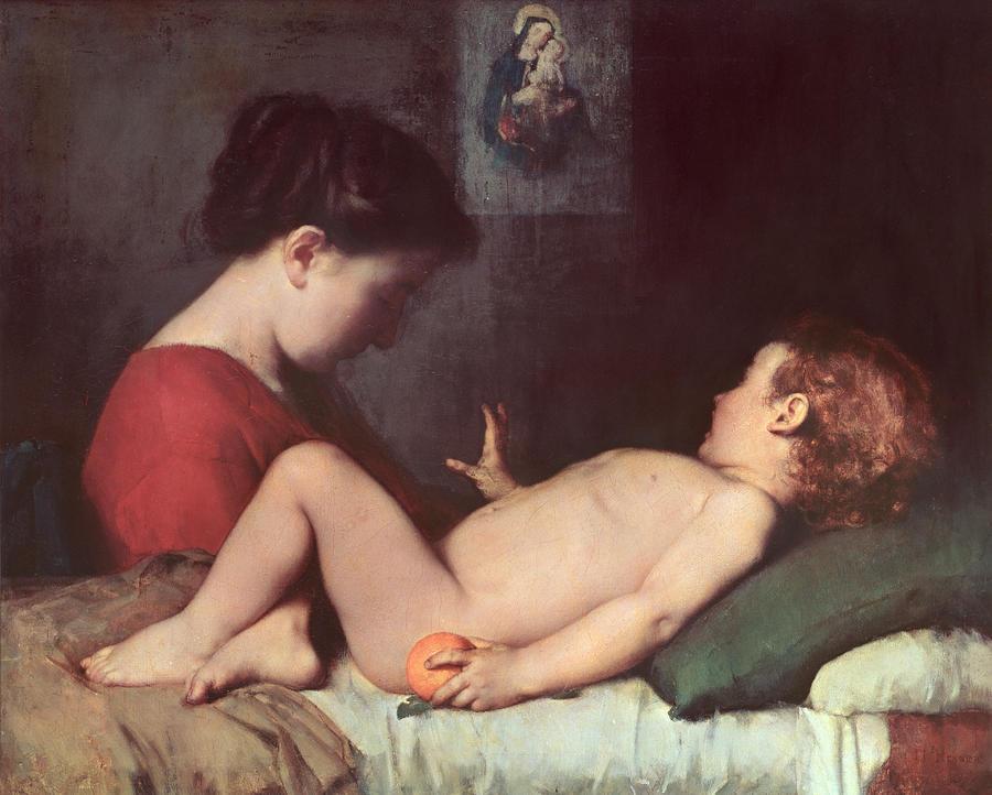 The Awakening Child Painting