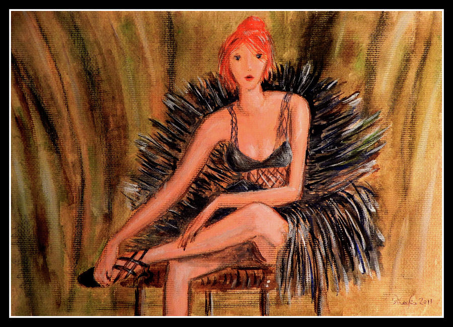 The Ballet Dancer Relaxing Painting  - The Ballet Dancer Relaxing Fine Art Print