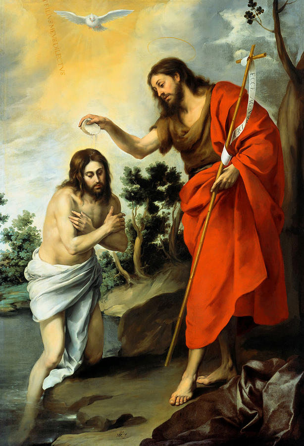 The Baptism Of Christ Painting  - The Baptism Of Christ Fine Art Print