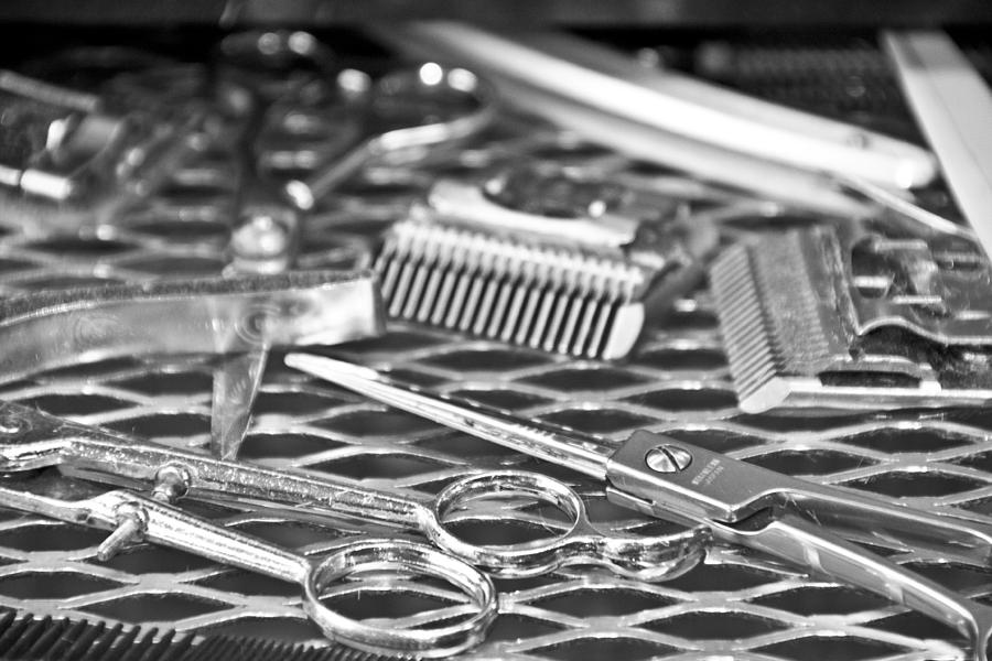 The Barber Shop 10 Bw Photograph