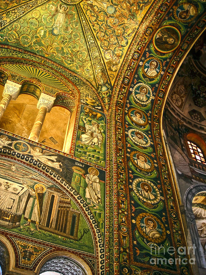 The Basilica Di San Vitale In Ravenna - 03 Painting  - The Basilica Di San Vitale In Ravenna - 03 Fine Art Print