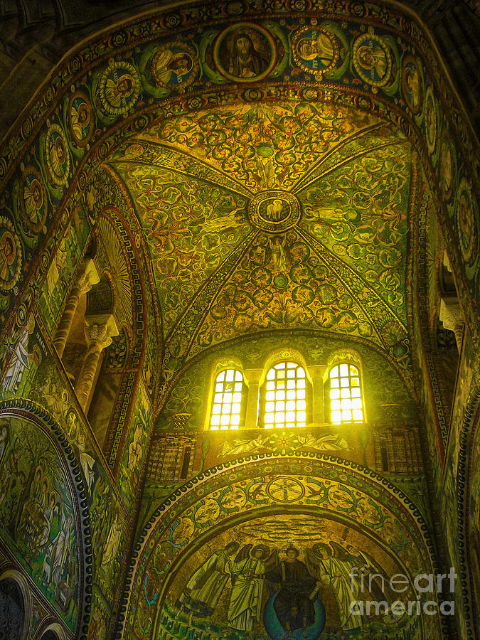 The Basilica Di San Vitale In Ravenna Painting