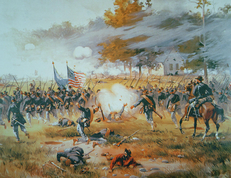 The Battle Of Antietam Painting  - The Battle Of Antietam Fine Art Print