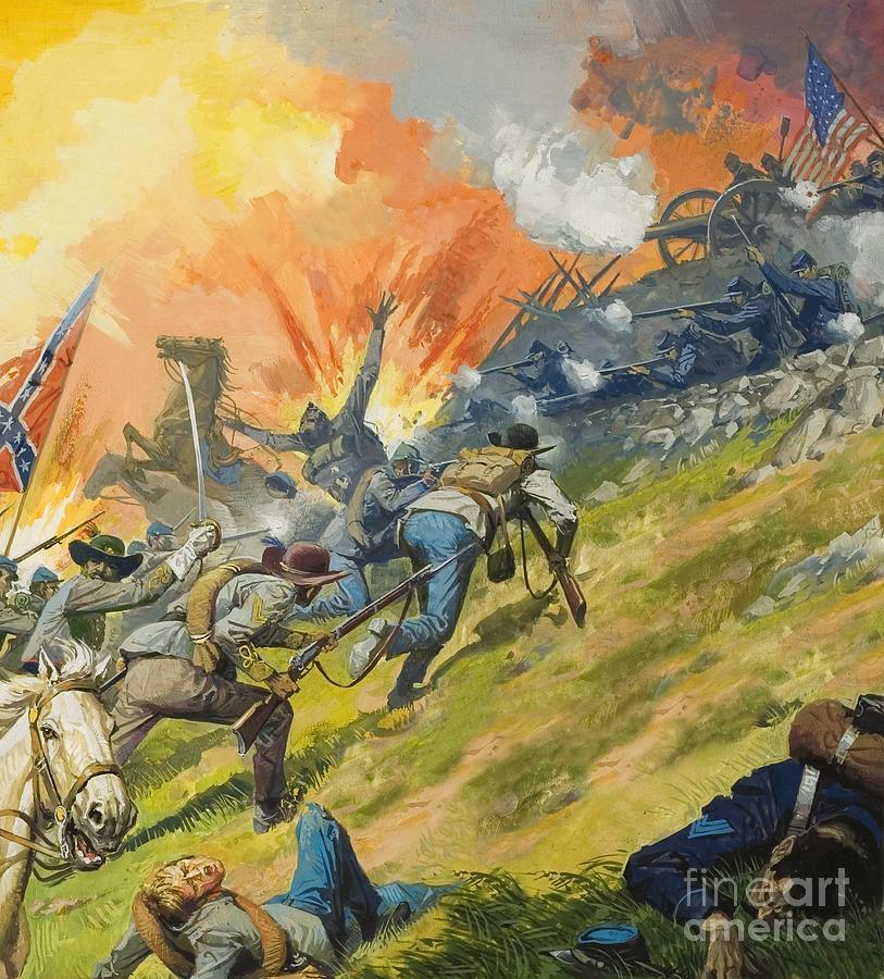 The Battle Of Gettysburg Painting