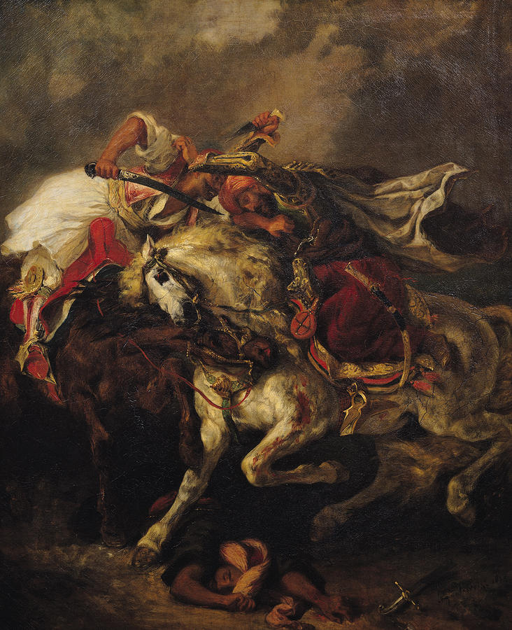 The Battle Of Giaour And Hassan Painting