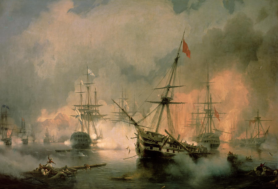 The Battle Of Navarino Painting  - The Battle Of Navarino Fine Art Print