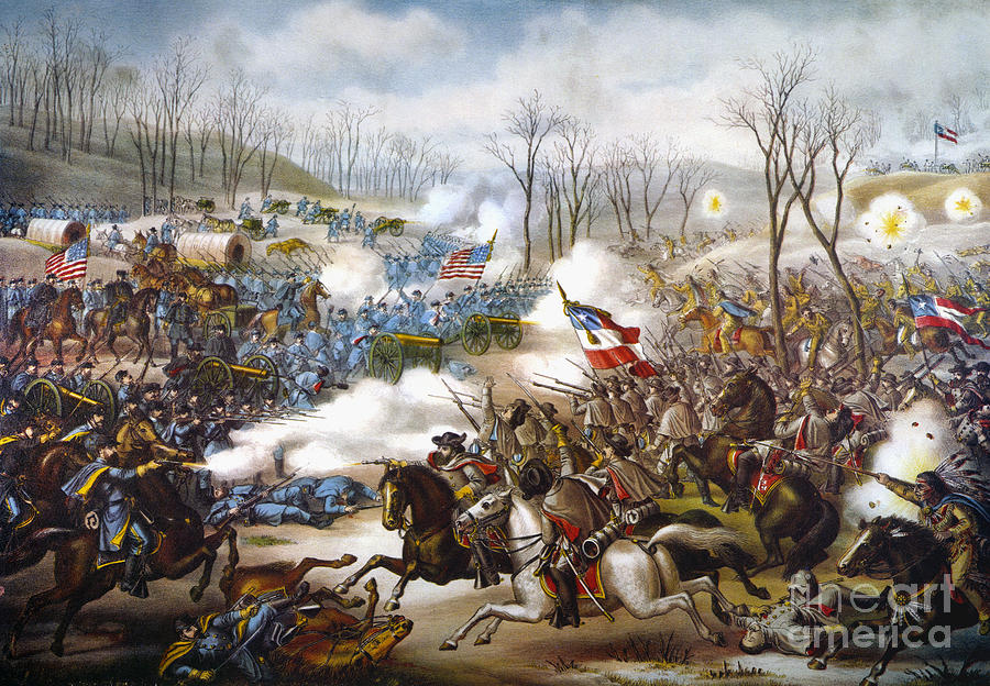 1862 Photograph - The Battle Of Pea Ridge, by Granger