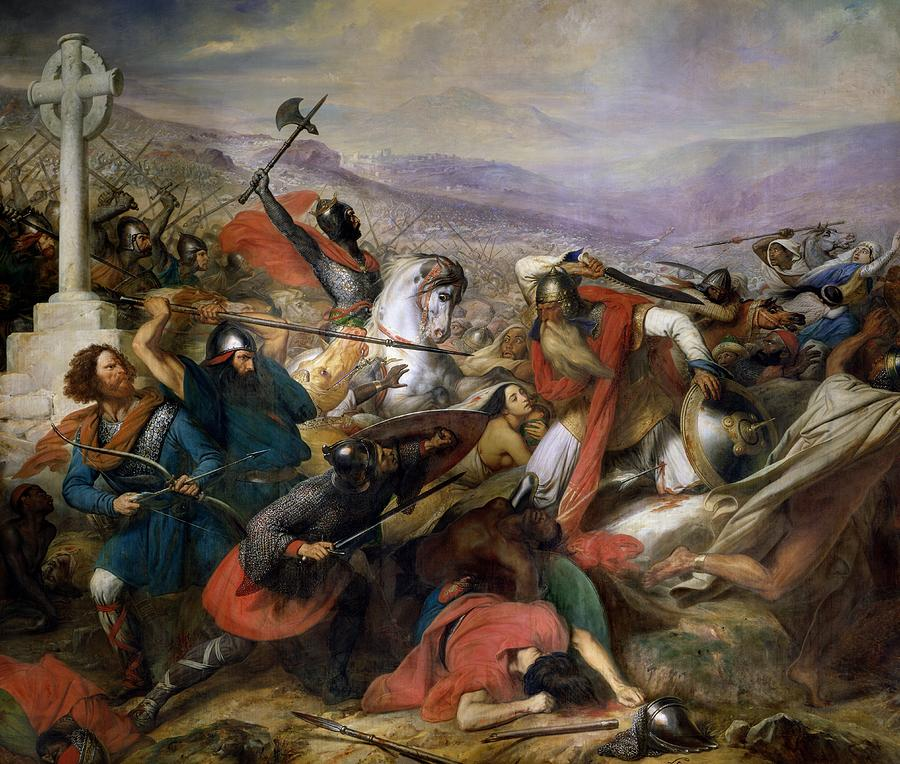 The Battle Of Poitiers Painting