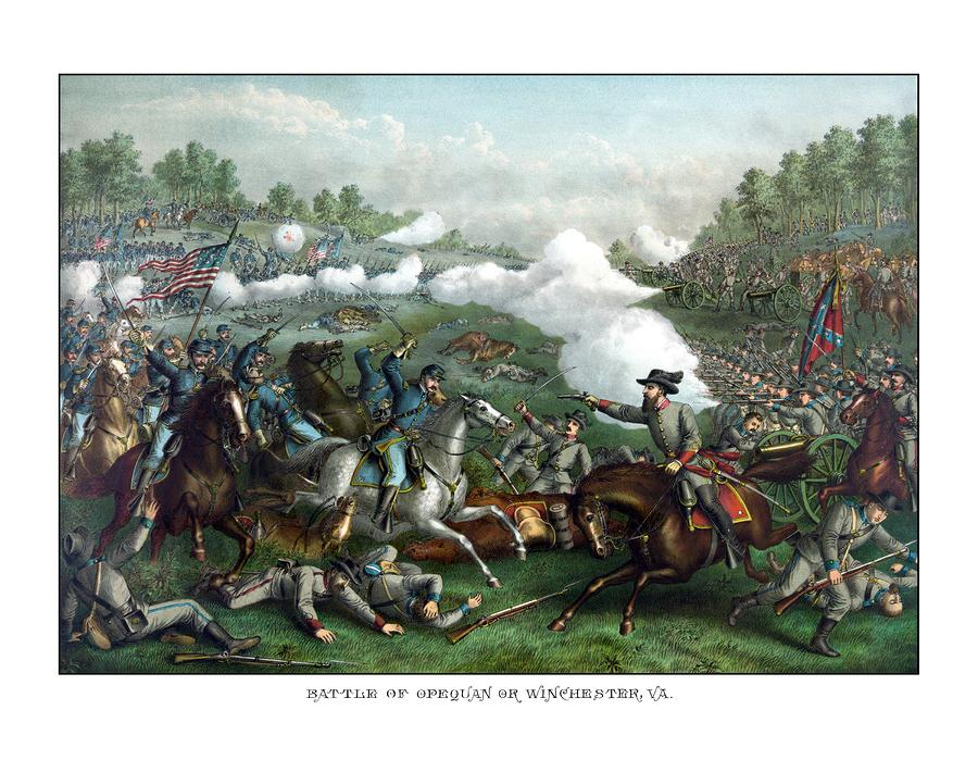 The Battle Of Winchester Painting