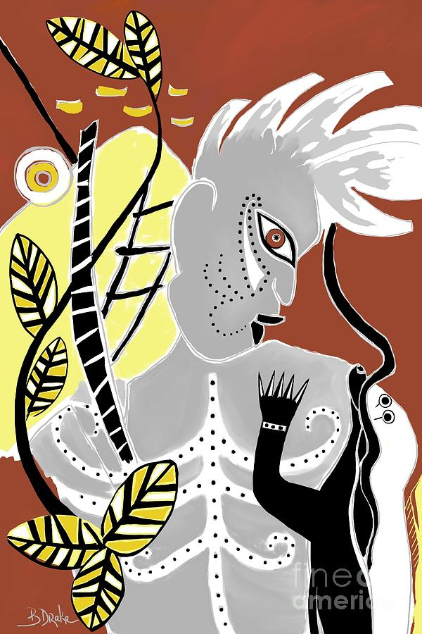 The Batutut Forest People Painting  - The Batutut Forest People Fine Art Print