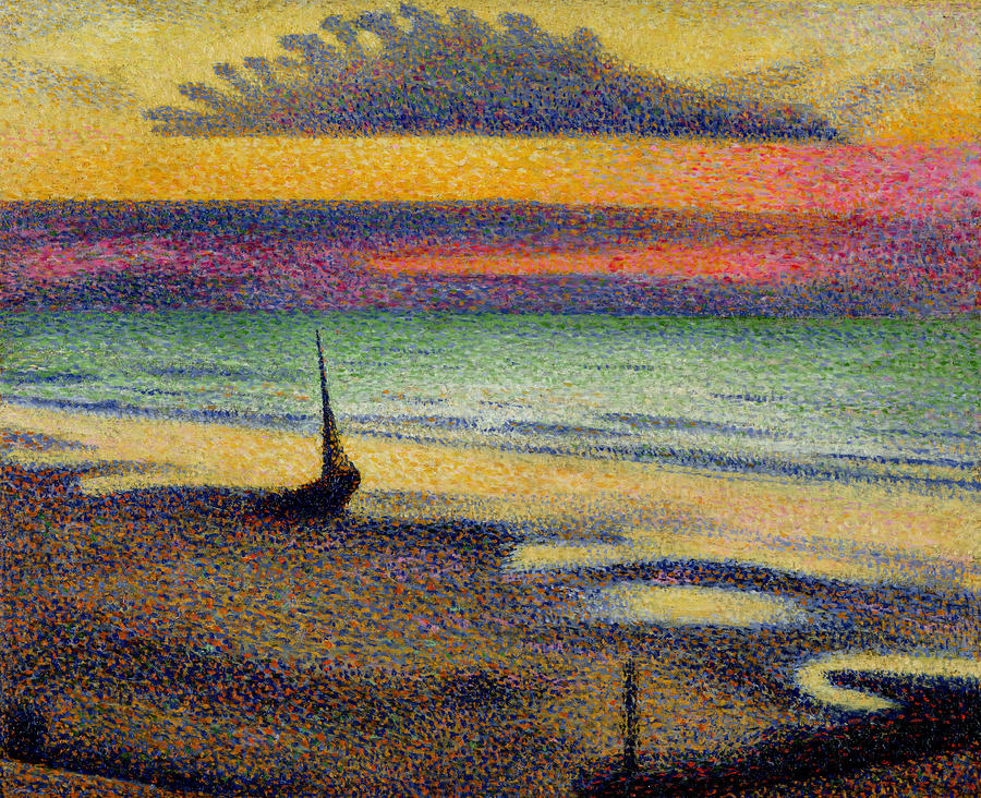 The Beach At Heist Painting