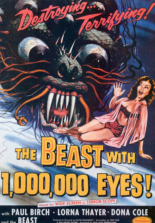 The Beast With A Million Eyes, 1955 Photograph  - The Beast With A Million Eyes, 1955 Fine Art Print