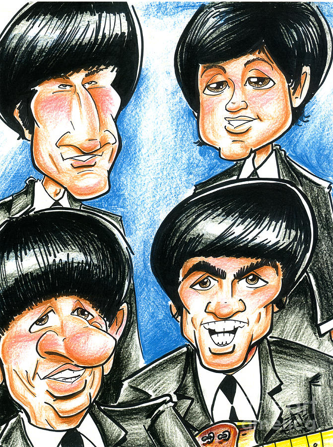 The Beatles Drawing  - The Beatles Fine Art Print