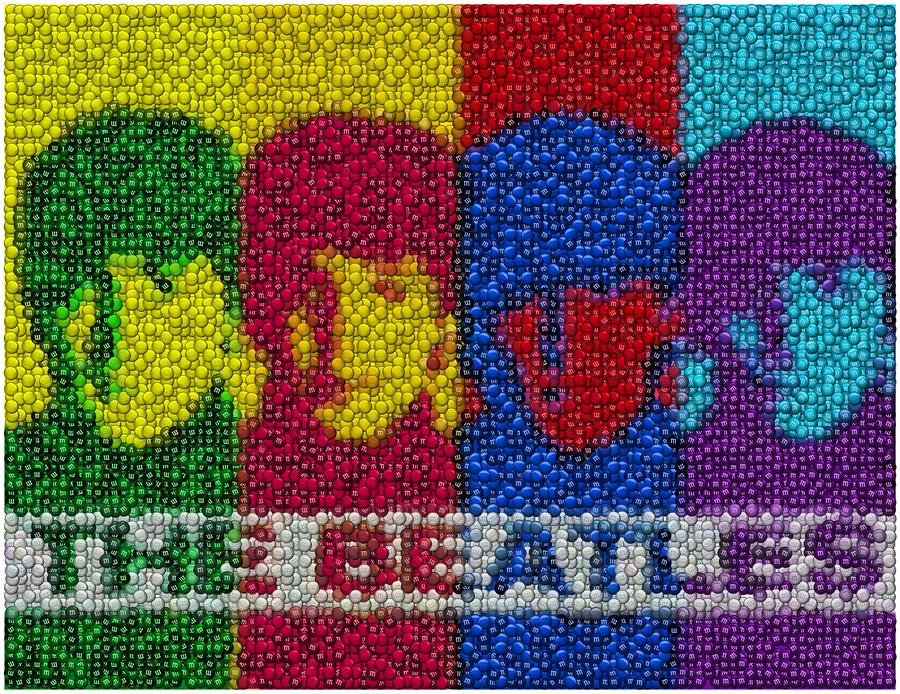 The Beatles Mm Candy Mosaic Digital Art