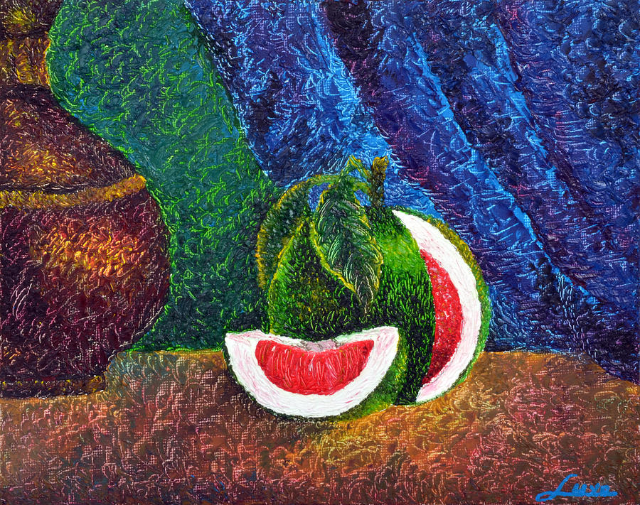 The Beauty Within Series--juicy Grapefruit Painting  - The Beauty Within Series--juicy Grapefruit Fine Art Print