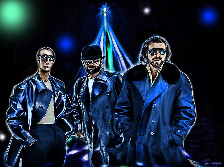 The Bee Gees Digital Art  - The Bee Gees Fine Art Print
