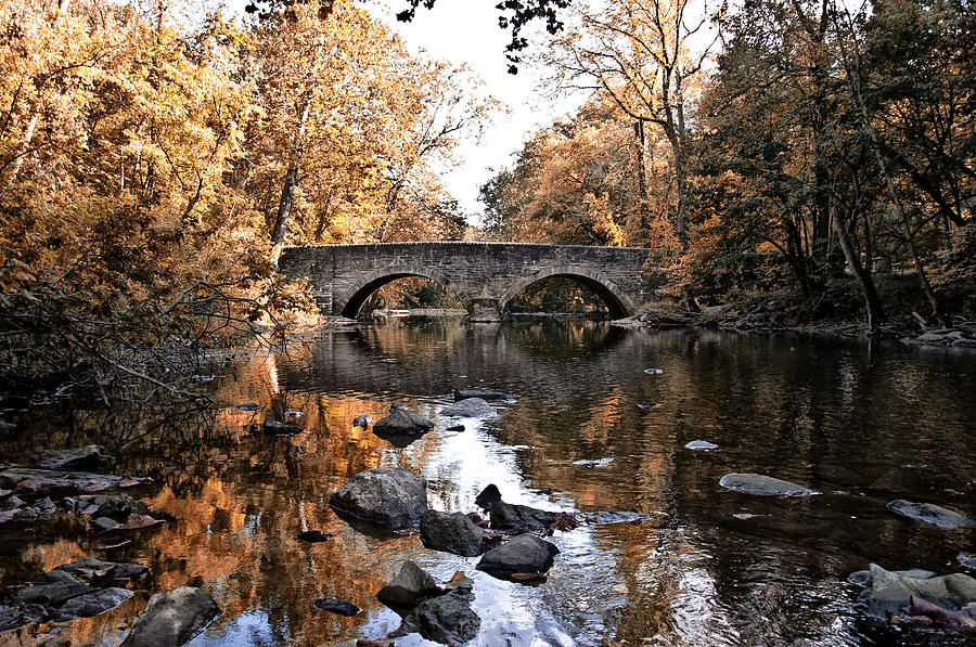 The Bells Mill Bridge In Autumn Photograph  - The Bells Mill Bridge In Autumn Fine Art Print
