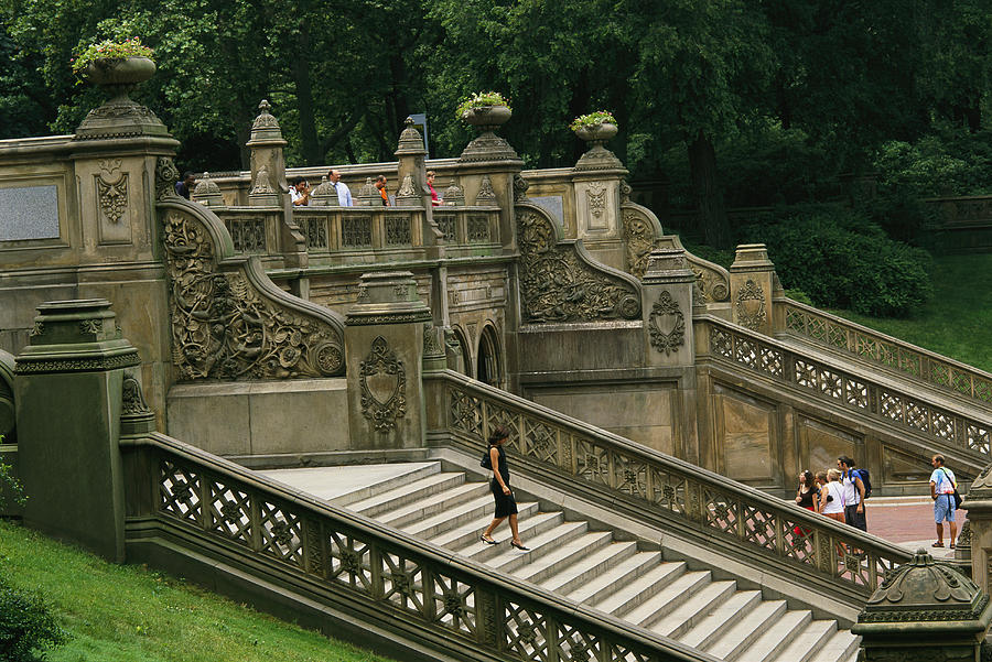 The bethesda terrace steps in central photograph by for Terrace stairs