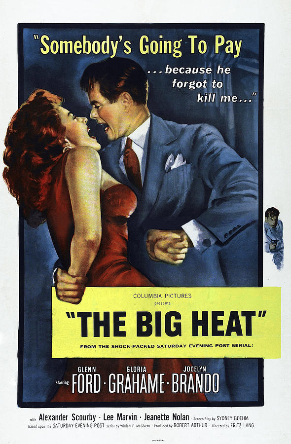 1950s Poster Art Photograph - The Big Heat, Gloria Grahame, Glenn by Everett