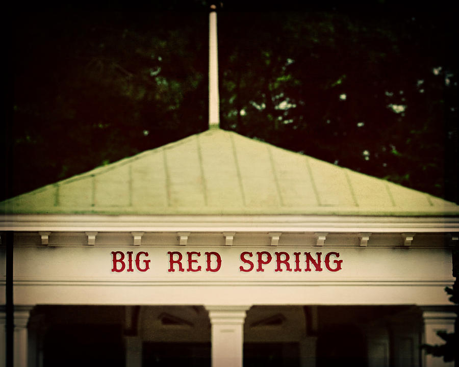The Big Red Spring Photograph  - The Big Red Spring Fine Art Print