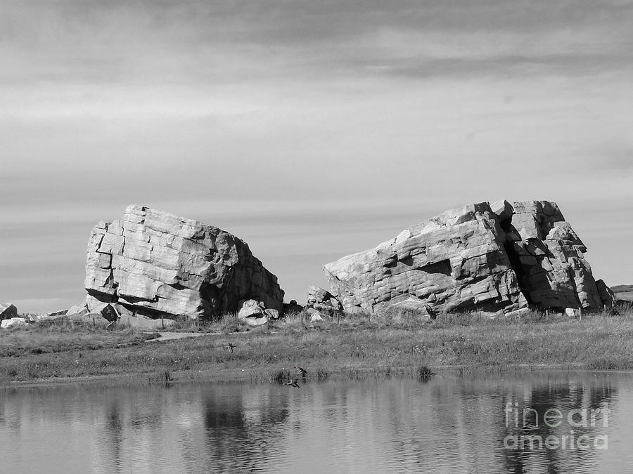 The Big Rock   Okotoks Erratic Photograph  - The Big Rock   Okotoks Erratic Fine Art Print