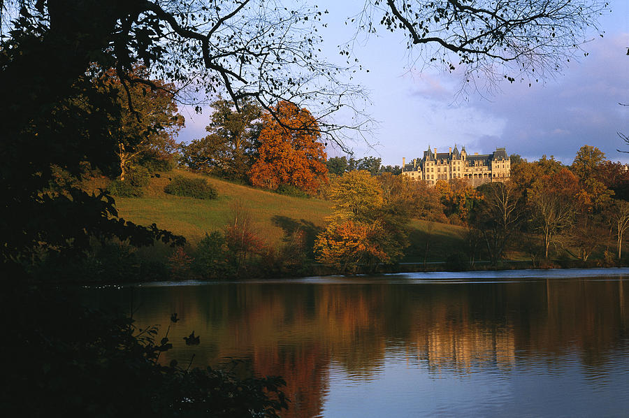 The Biltmore Estate Is Reflected Photograph