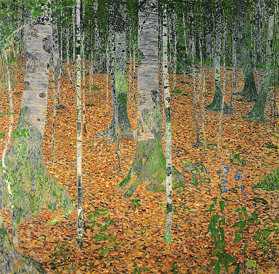 The Birch Wood Painting  - The Birch Wood Fine Art Print