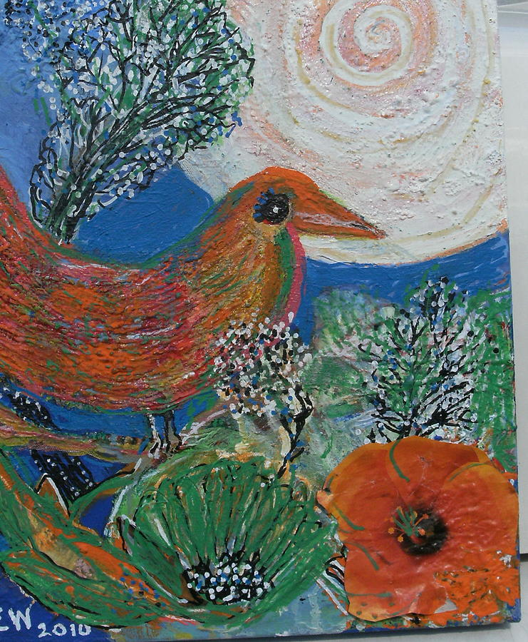 The Bird Is The Word Painting  - The Bird Is The Word Fine Art Print