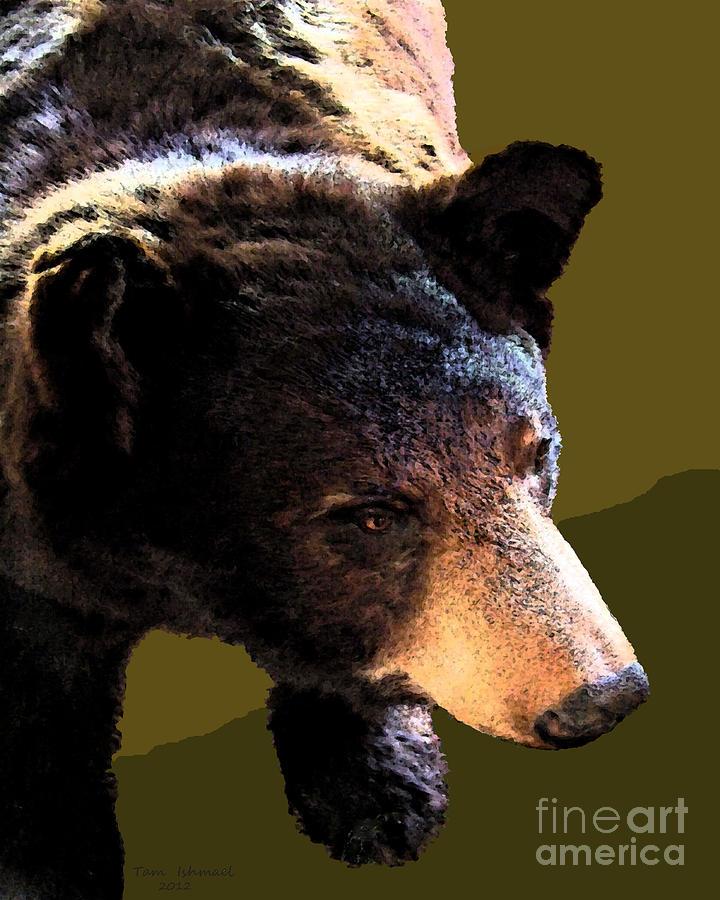 Animals Mixed Media - The Black Bear by Tammy Ishmael - Eizman