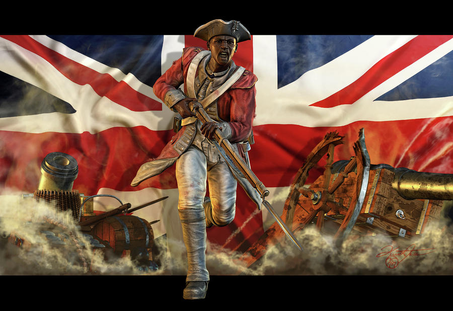 The Black Loyalist Digital Art  - The Black Loyalist Fine Art Print