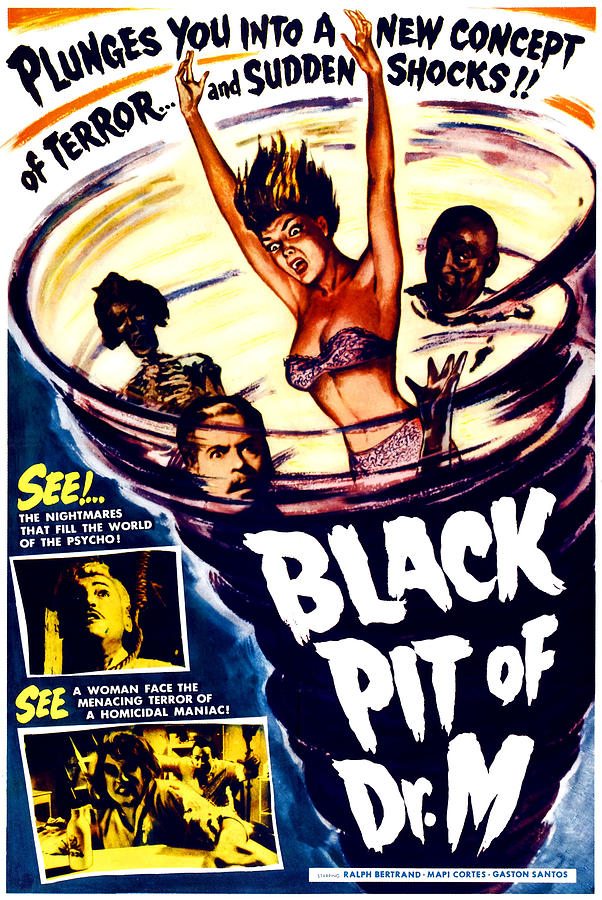 1950s Poster Art Photograph - The Black Pit Of Dr. M, Aka Misterios by Everett