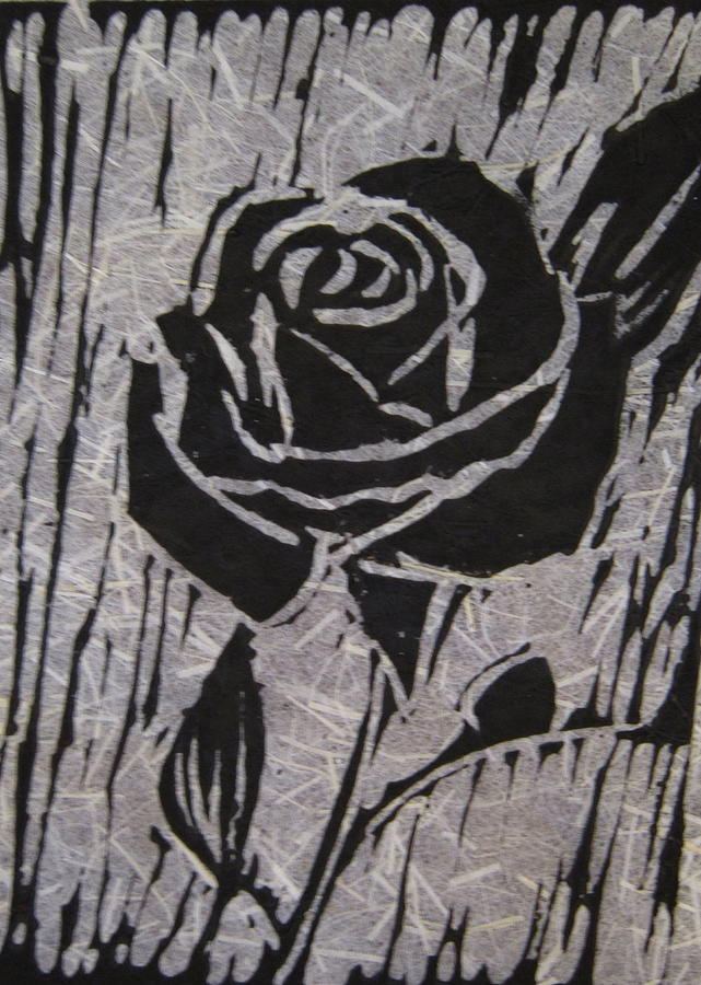 The Black Rose Relief  - The Black Rose Fine Art Print