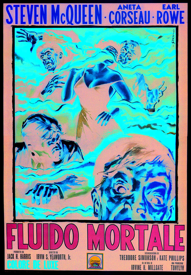 The Blob, Italian Poster Art, 1958 Photograph  - The Blob, Italian Poster Art, 1958 Fine Art Print