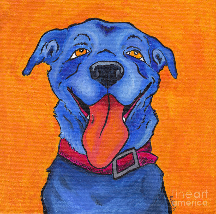 The Blue Dog Of Sandestin Painting  - The Blue Dog Of Sandestin Fine Art Print