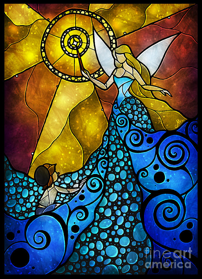 The Blue Fairy Digital Art  - The Blue Fairy Fine Art Print