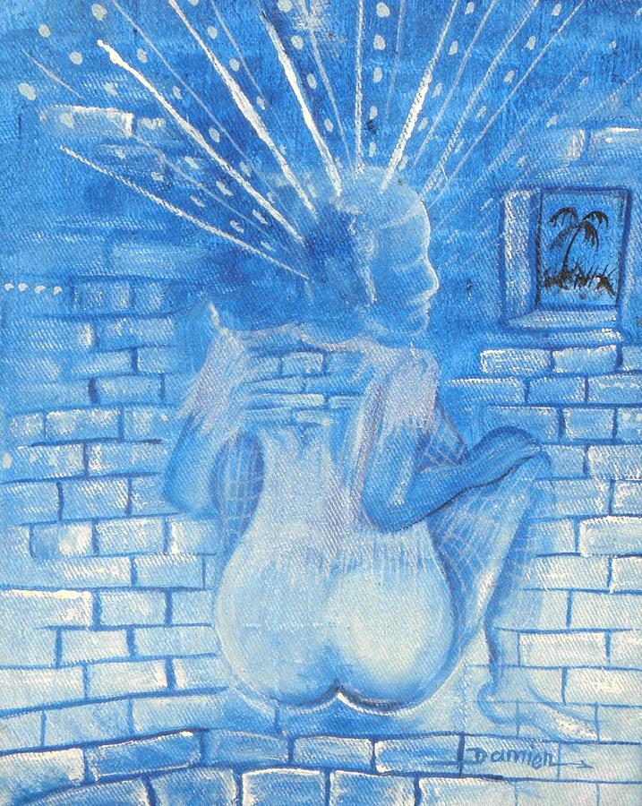The Blue Girl Painting