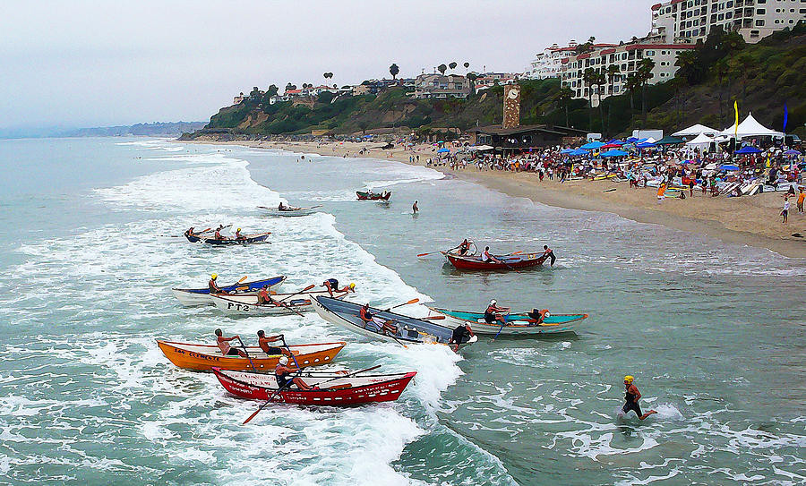 Boat Race Photograph - The Boat Race by Ron Regalado