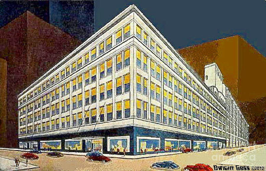 The boston store at night in milwaukee wi painting by for Craft stores in milwaukee