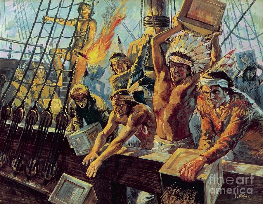 The Boston Tea Party Painting
