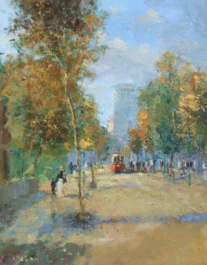 The Boulavard -late Summer Painting  - The Boulavard -late Summer Fine Art Print
