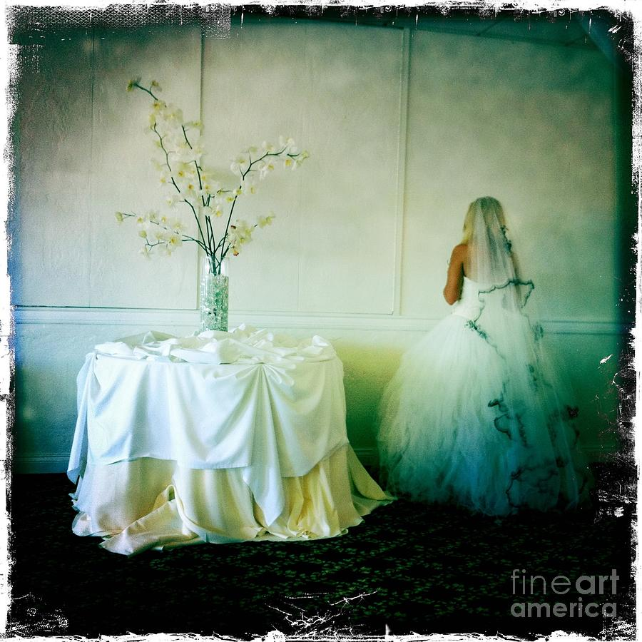 The Bride Takes A Moment Photograph