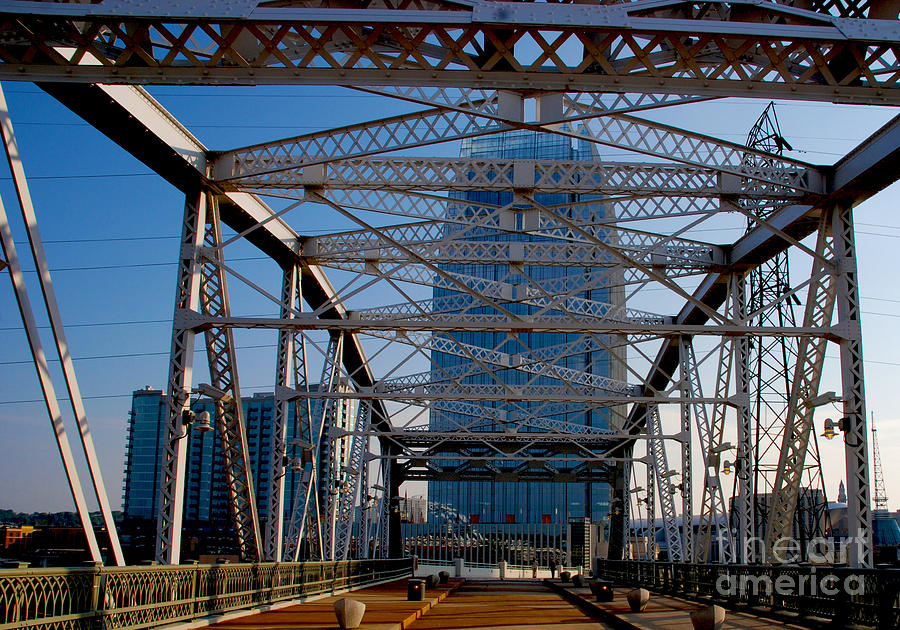 The Bridge In Nashville Photograph  - The Bridge In Nashville Fine Art Print