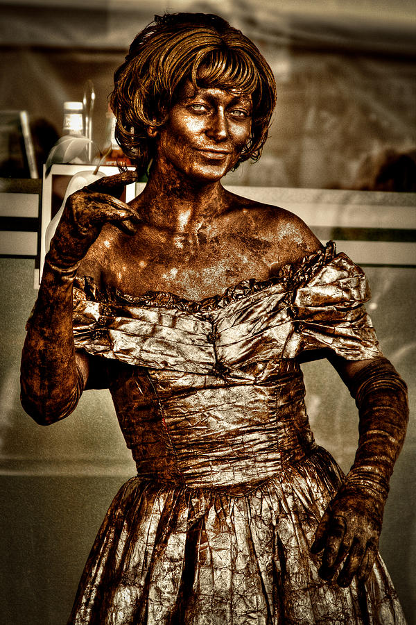 The Bronze Lady In Pike Place Market Photograph